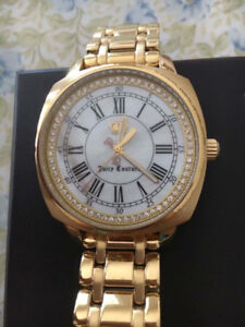 Brand new gold juicy couture watch with Swarovski crystals