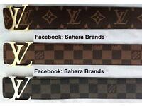 All Colour Louis Vuitton 2 for £45 Wallet £25 each belt lv