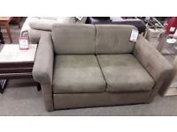 Brown Fabric 2 Seater Sofa Bed