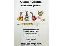 Guitar and Ukulele summer workshop for kids