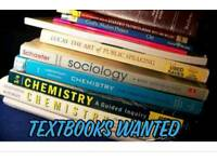 TEXTBOOKS WANTED