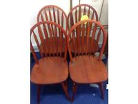 Set of 4 wooden dining chairs **£30**