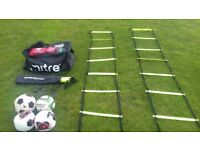 Football coaching gear - Balls Ladders Kitbag Whistle First Aid Kit shirts net clips adidas