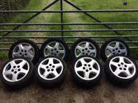 "Nissan alloy wheels 16"" 5x114.3 skyline Silvia drift jdm mx5 GTST 200sx"
