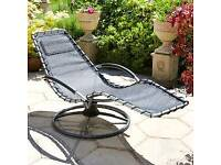 Garden Lounger with cushion NEW