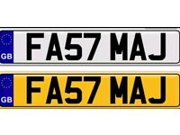 FAST MAJ MAJID MAJED a private number plate