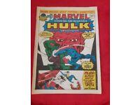 Marvel starring the incredable hulk comics