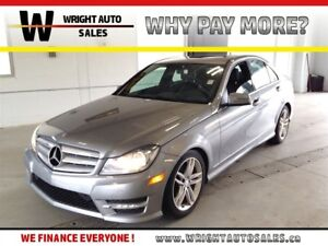 2013 Mercedes-Benz C-Class 4MATIC SUNROOF LEATHER 67,781 KMS