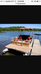 Looking for an old pontoon boat or just the pontoons