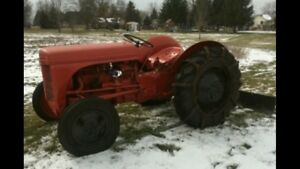 1951 Ferguson tractor with plow