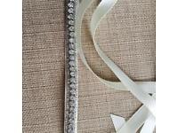 Wedding Belt/Sash Ivory Rhinestones (new)
