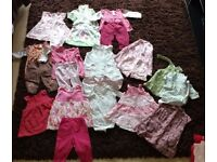 Large bundle of baby girls (92 items) clothes aged 3-6 months old