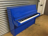 BLUE HIGH GLOSS UPRIGHT ACOUSTIC PIANOS!