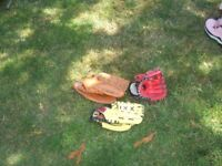 3 x Baseball Catching Gloves -