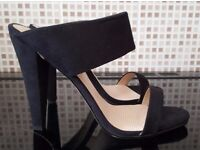 Brand New & Boxed 'Paper Dolls' High Heel Mules (Black) Size 6-7
