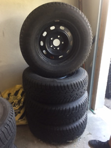 New General Snow tires on rims