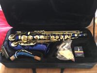 Braly Alto Saxophone in Midnight Blue