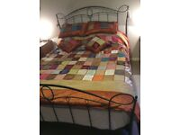 King size bed throw with 2 pillow shams and 2 cushion covers
