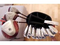 Full Golf Set - Cobra Blades, Maxfli 1,3,5, Taylor Made Putter + Maxfli Bag