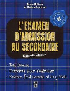 L'examen d'admission au secondaire - Boileau & Raymond