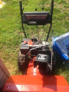 Snowblower MTD yard machine