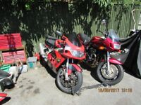 yamaha dtr 125 almost complete + 1200 BANDIT + GSXR 750X