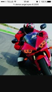 angel eyes red for yamaha r6 2003-2005