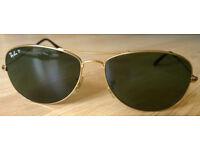 Ray Ban Cockpit polarised sunglasses - RB3362 001/58 59-14 3P - gold frame