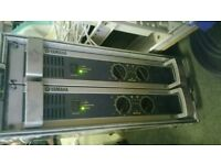 2x Cased Yamaha Power Amp P3500S for club pub dj and stage use