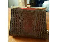 Vintage crocodile skin bag