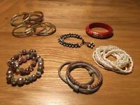 Collection of bracelets and bangles