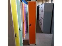 Probe clothes locker in Orange. Single door.
