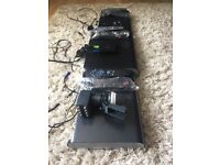 Three sky boxes including accessories for sale as a bundle