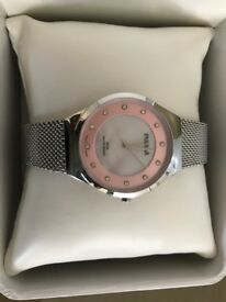 Pulsar Swarovski Crystal Set Mesh strap watch