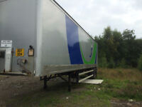 25 FEET METAL TRAILER SINGLE AXEL WITH TAIL LIFT