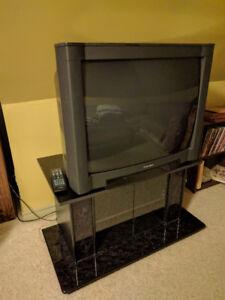 """Mitsubishi TV 36"""" with stand"""