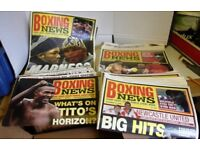 BOXING NEWS MAGAZINES 1996-2004 QUANTITY 250