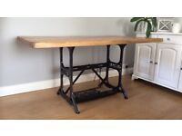 Singer frame (industrial frame) dining table. This is a new product, table top professionally made