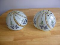 2 Lamp shades glass and gold colour,