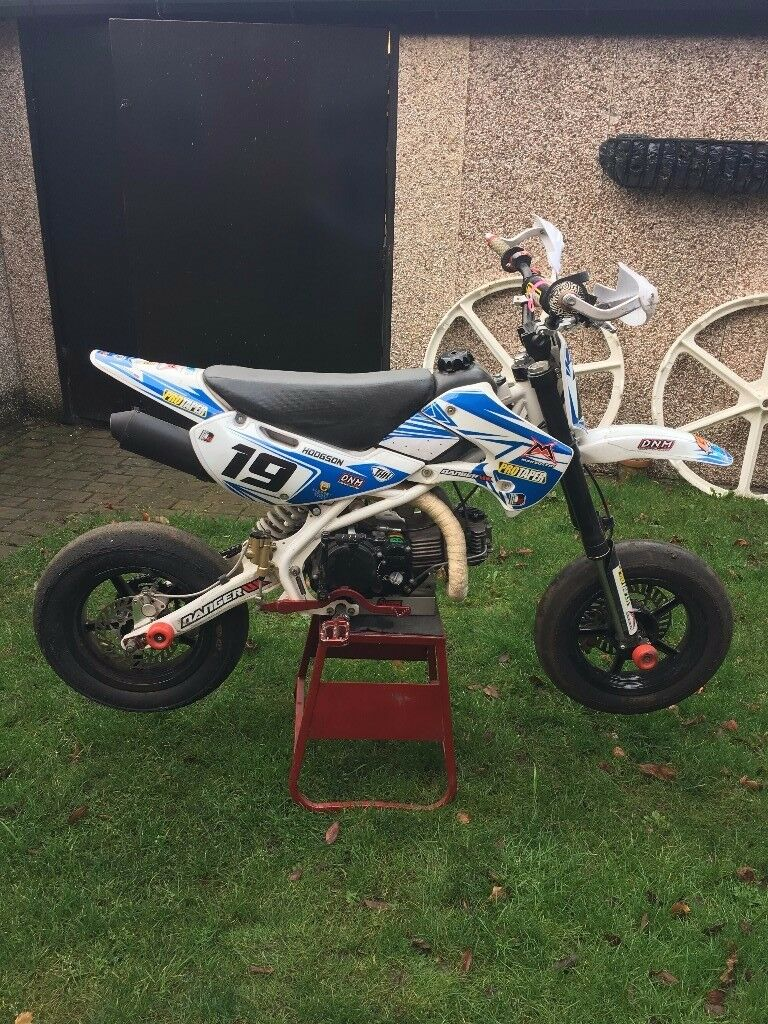 supermoto pit bike 184cc 19bhp ready to race not stomp. Black Bedroom Furniture Sets. Home Design Ideas