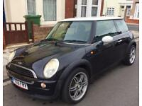 MINI ONE 2003 1.6 PETROL BLACK FSH PORTSMOUTH