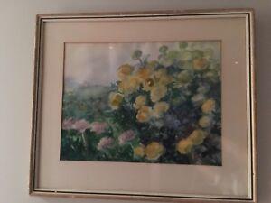 Floral watercolour , original art Mikkelsaar