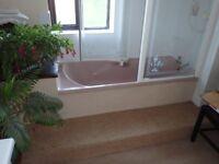 Pink coloured bath free to good home