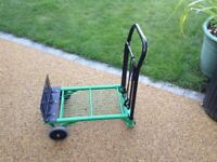 Versatile Garden Trolley - This strong trolley transforms from sack barrow to hand truck in seconds