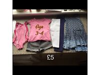 Girls clothes age from 3-8 yrs old - prices & sizes of bundles are on pics