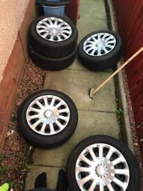 Ford Fiesta steel wheels and trims size 15