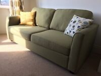 Good Quality Double Sofa Bed / Bed Settee only 3 years old, lovely light green colour