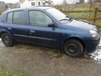 renault clio parts 3 cars 2001 to 2006 blue silver or black petrol and diesel