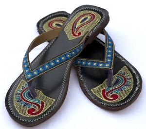 Leather Sandals - Blue