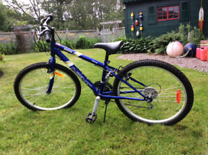 24 inch girl's bike with helment